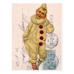 Vintage Clown Postcard Digital Art