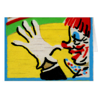 Vintage Clowns Spelling Alphabet N is for Nose Greeting Card
