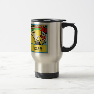 Vintage Clowns Spelling Alphabet N is for Nose Coffee Mug