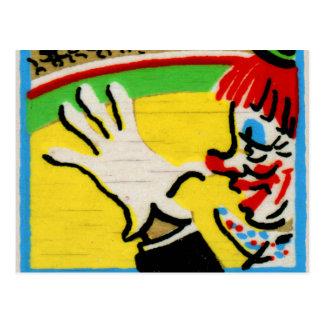 Vintage Clowns Spelling Alphabet N is for Nose Postcard