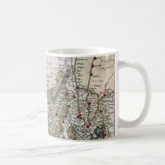 Vintage coastal map of Holland Basic White Mug