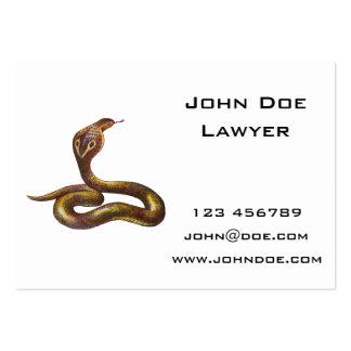 Vintage Cobra Snake Illustration Business Card