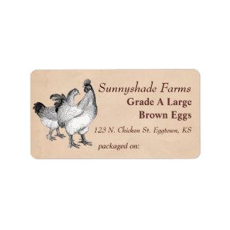 Vintage Cochin Chickens Egg Carton Label