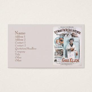 Vintage Cockney's Garden Business Card