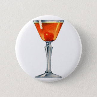 Vintage Cocktail Booze Drink Manhattan 6 Cm Round Badge