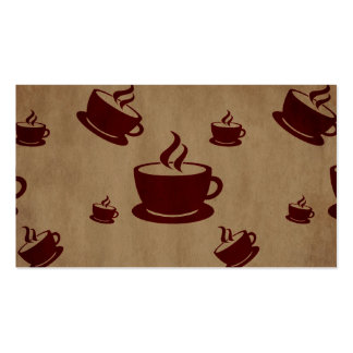 Vintage Coffee Cup Wonderland Business Cards