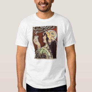 Vintage Coffee Girly Nouveau Ad - Rajah Coffee Shirts