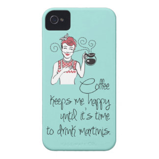 Vintage Coffee & Martinis iPhone 4/4S Case