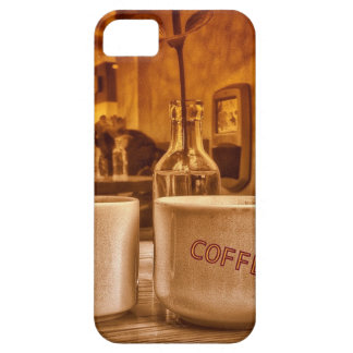 Vintage Coffee Mugs Cafe Sepia Photo Design iPhone 5 Cover