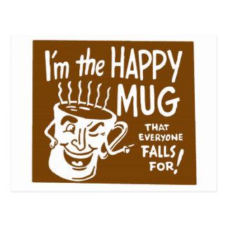 Vintage Coffee Retro Kitsch I'm the Happy Mug Postcard