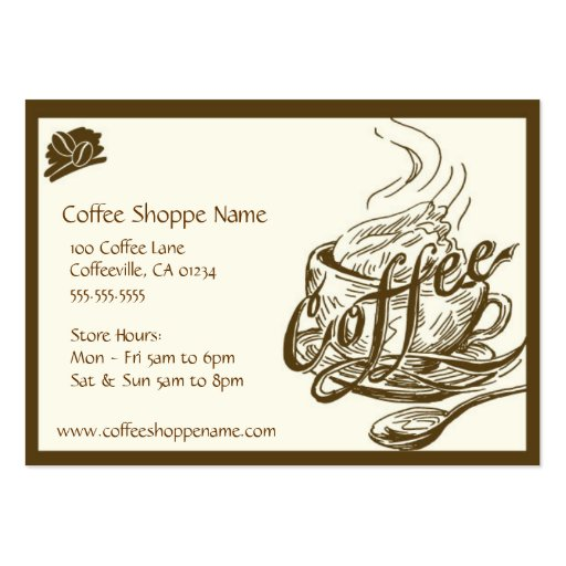 Vintage Coffee Shoppe Punch Cards Pack Of Chubby Business Cards