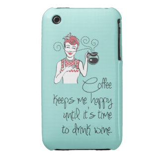 Vintage Coffee & Wine iPhone 3G/3GS Case iPhone 3 Case-Mate Case