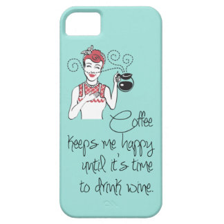 Vintage Coffee & Wine iPhone 5 Case