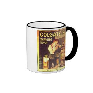 Vintage Colgate Shaving Soap Boy Shaving Ringer Mug