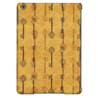 Vintage Collage Antique Keys Sepia Grungy Design iPad Air Cases