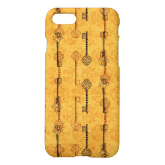 Vintage Collage Antique Keys Sepia Grungy Design iPhone 8/7 Case