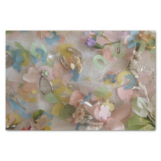 Vintage collage tissue paper