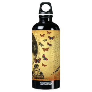 Vintage Collage Woman Writer and Butterflies SIGG Traveller 0.6L Water Bottle