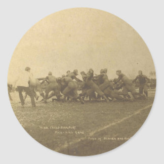 Vintage College Football Game from 1902 Round Sticker