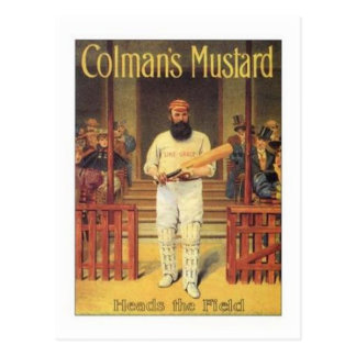 Vintage Colman's Mustard Heads the Field Cricket A Post Cards