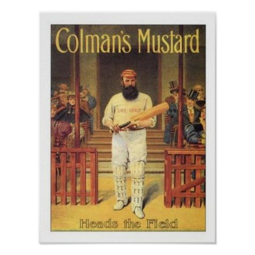 Vintage Colman's Mustard Heads the Field Cricket A Posters