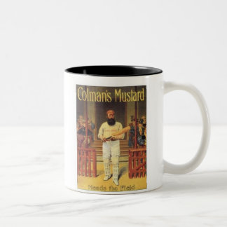Vintage Colman's Mustard Heads the Field Cricket A Two-Tone Mug