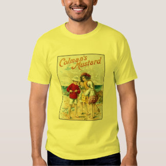 Vintage Colman's Mustard Kids On the Beach Ad Shirts