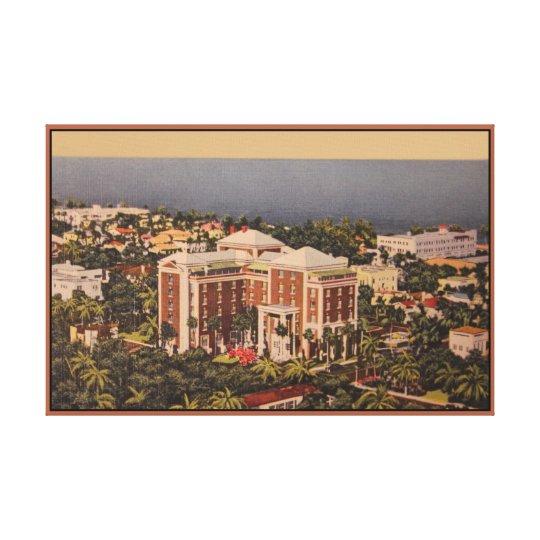 Vintage Colony Hotel, Palm Beach FL Canvas Print
