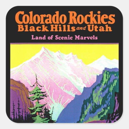 Vintage Colorado Square Sticker