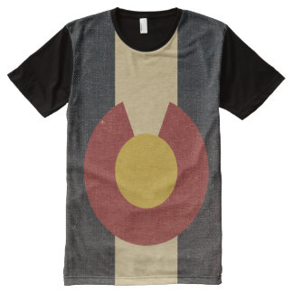 Vintage Colorado State Flag All-Over Print T-Shirt