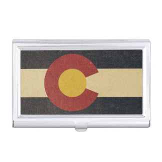 Vintage Colorado State Flag Business Card Cases