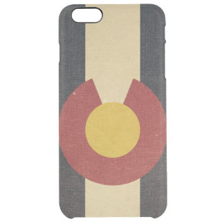 Vintage Colorado State Flag Clear iPhone 6 Plus Case