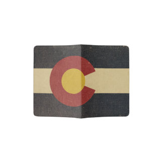 Vintage Colorado State Flag Passport Holder