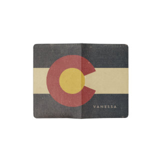 Vintage Colorado State Flag Pocket Moleskine Notebook
