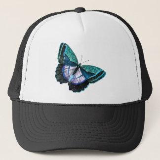 Vintage Colorful Blue Purple Butterfly Template Trucker Hat