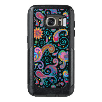 Vintage Colorful Floral Paisley OtterBox Samsung Galaxy S7 Case
