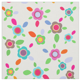 Vintage colorful flowers fabric