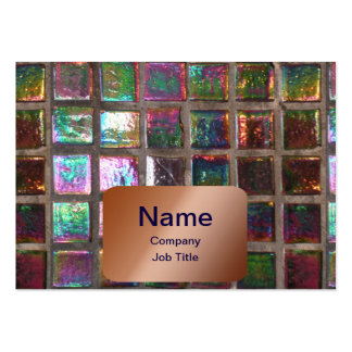 Vintage Colorful Glazed Mosaic Tiles Print Pack Of Chubby Business Cards