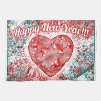 Vintage Colorful Happy New Year Design Kitchen Towels
