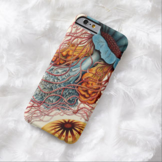 Vintage Colorful Jellyfish Barely There iPhone 6 Case