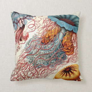 Vintage Colorful Jellyfish Cushion
