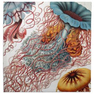 Vintage Colorful Jellyfish Printed Napkins