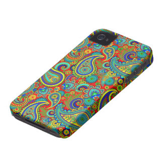 Vintage Colorful Orante Paisley Case-Mate iPhone 4 Cases