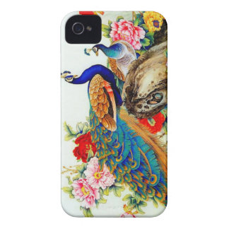 Vintage Colorful Peacocks iPhone 4 Case-Mate Cases