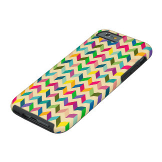 Vintage Colorful Retro Zig Zag Chevron Pattern Tough iPhone 6 Case