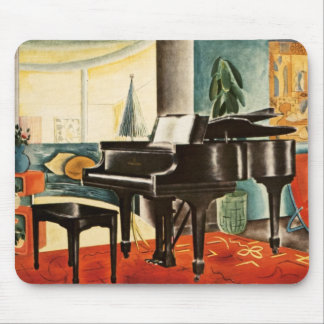 Vintage Colorful Steinway Piano Instrument Ad Art Mouse Pad