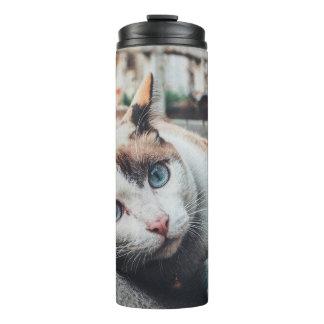 Vintage Colors Cat Thermal Tumbler