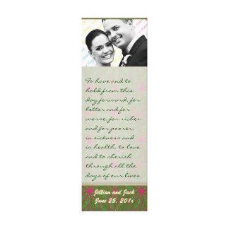Vintage Colors Poinsettia WEDDING Vows Display Gallery Wrap Canvas