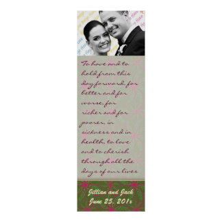 Vintage Colors Poinsettia WEDDING Vows Display Poster
