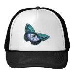 Vintage Colourful Blue Purple Butterfly Template Cap